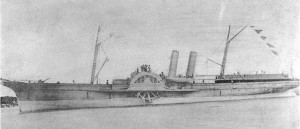 Photo # NH 53958 Confederate blockade runner Advance in 1863 - Courtesy of Naval History and Heritage Command